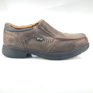 Timberland Pro Steel Toe Brown Leather Shoes NEW